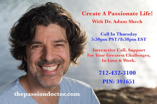Create A Passionate LIfe Call Flyer